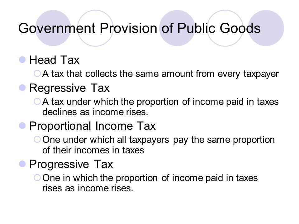 Government Provision of Public Goods