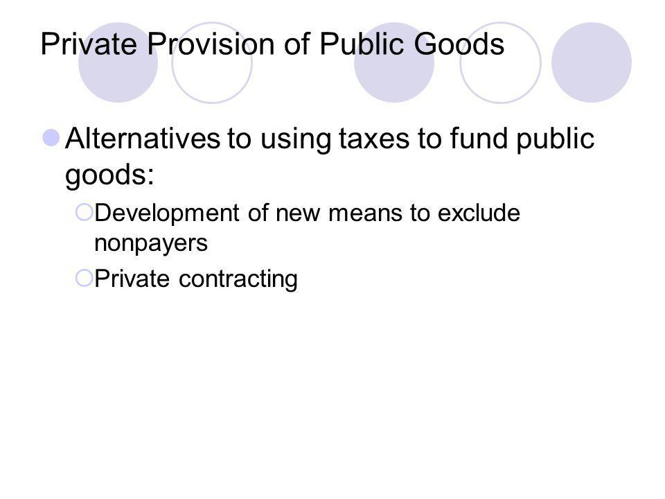Private Provision of Public Goods