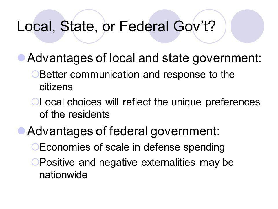 Local, State, or Federal Gov't