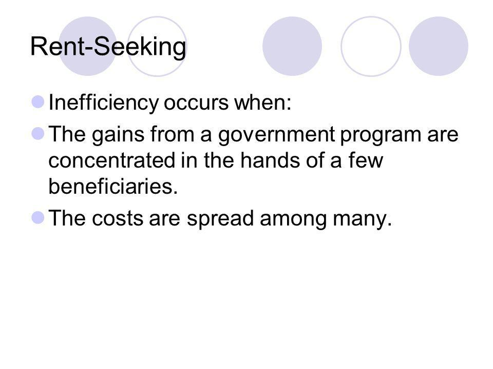 Rent-Seeking Inefficiency occurs when: