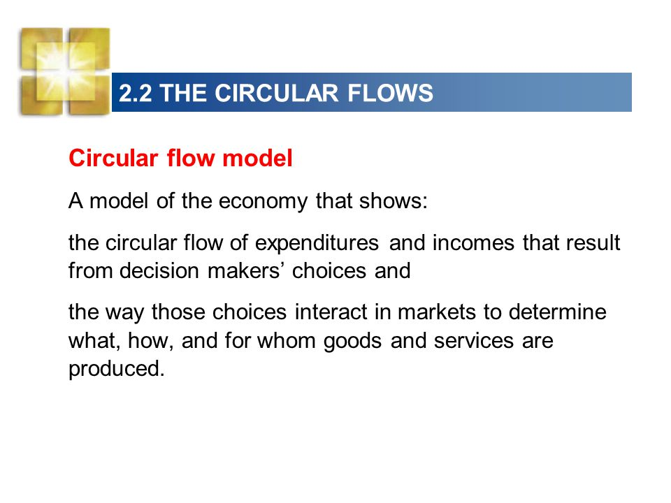 2.2 THE CIRCULAR FLOWS Circular flow model