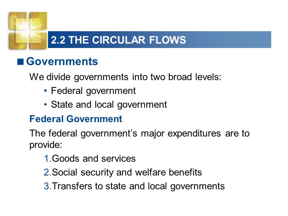Governments 2.2 THE CIRCULAR FLOWS