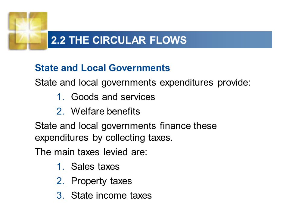 2.2 THE CIRCULAR FLOWS State and Local Governments