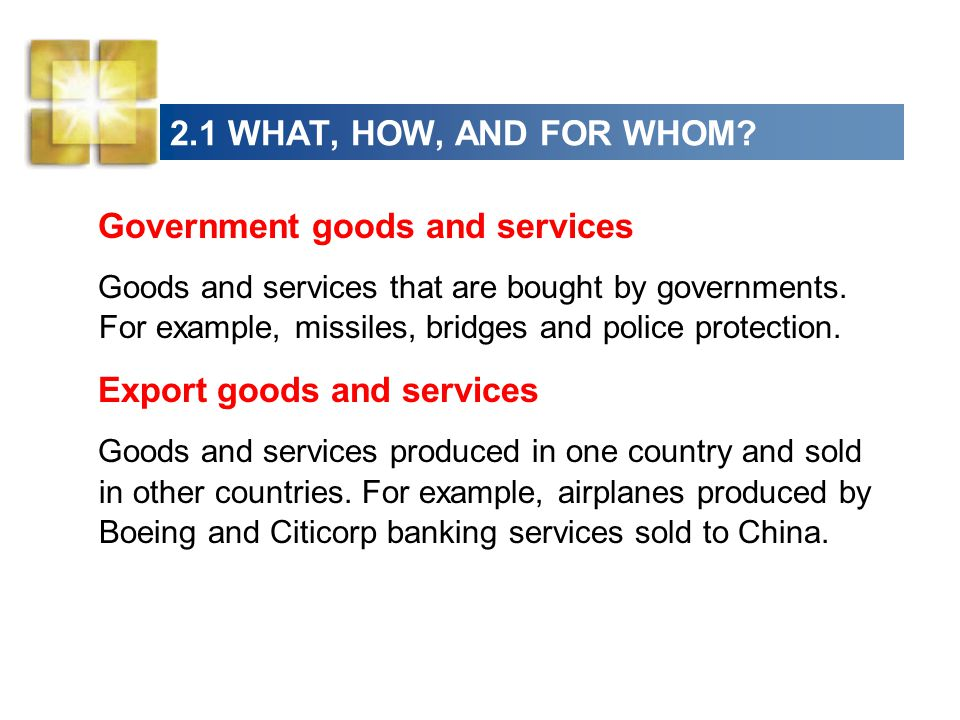 Government goods and services