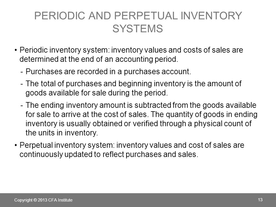 periodic and perpetual inventory systems