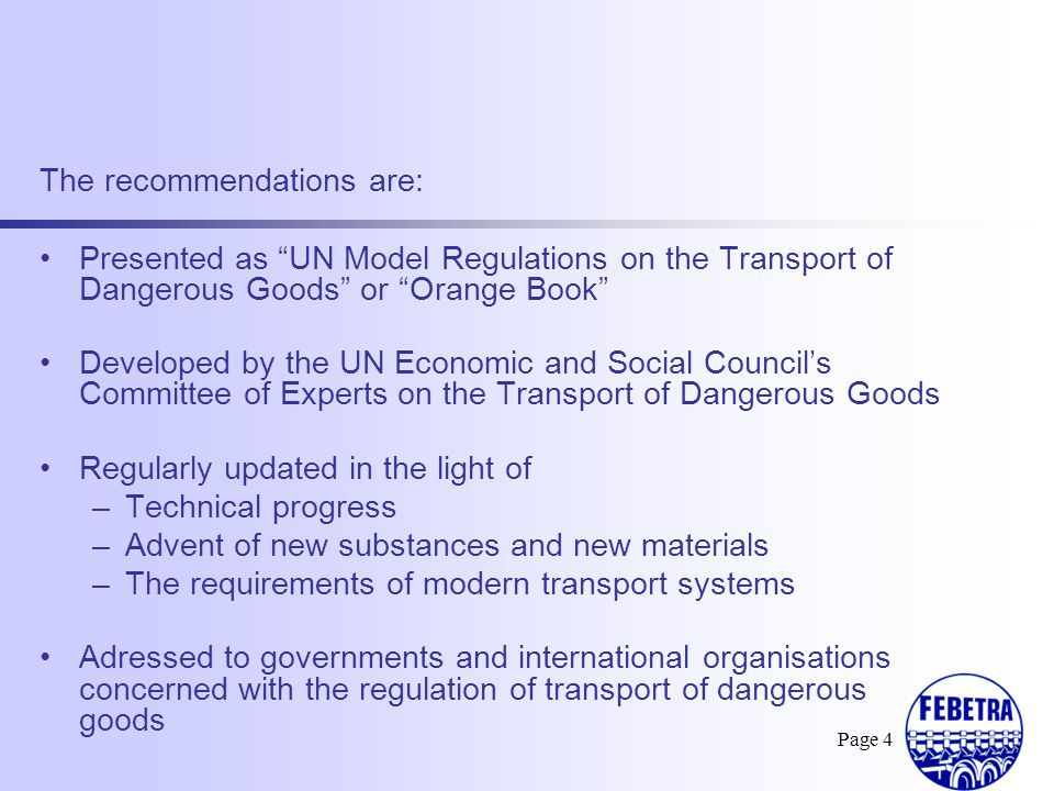 The recommendations are: