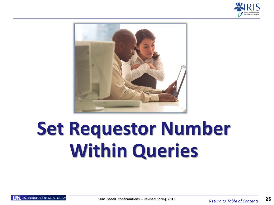Set Requestor Number Within Queries
