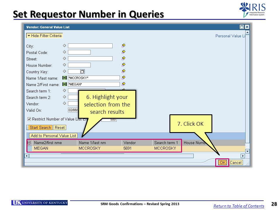 Set Requestor Number in Queries