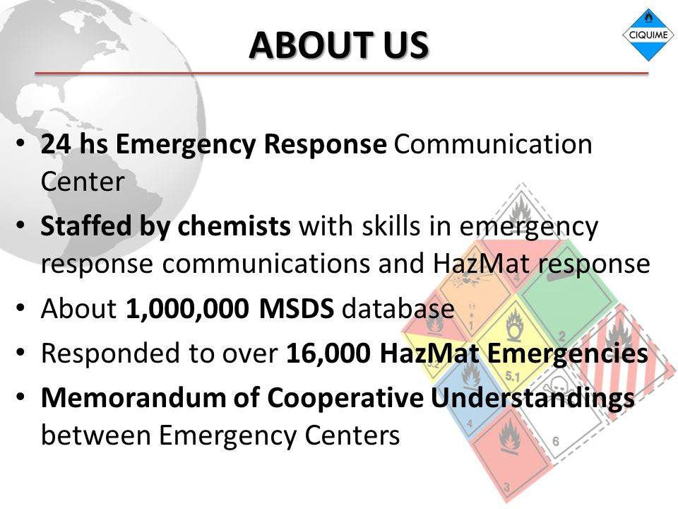 ABOUT US 24 hs Emergency Response Communication Center