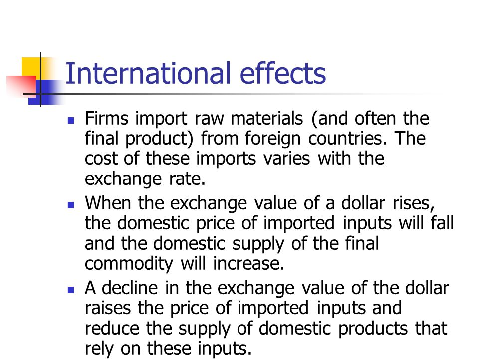 International effects