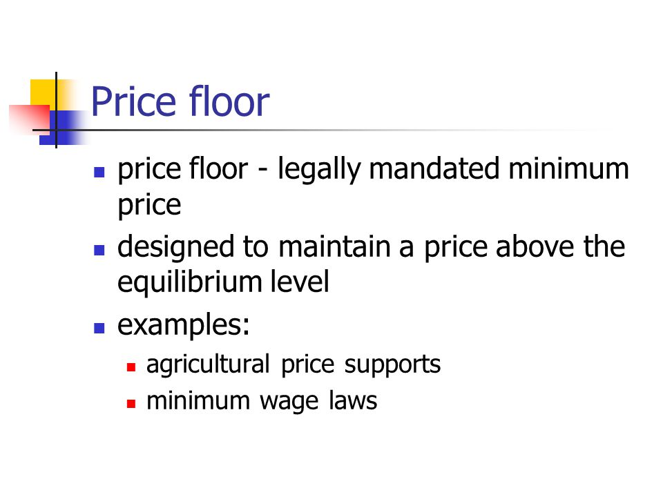 Price floor price floor - legally mandated minimum price