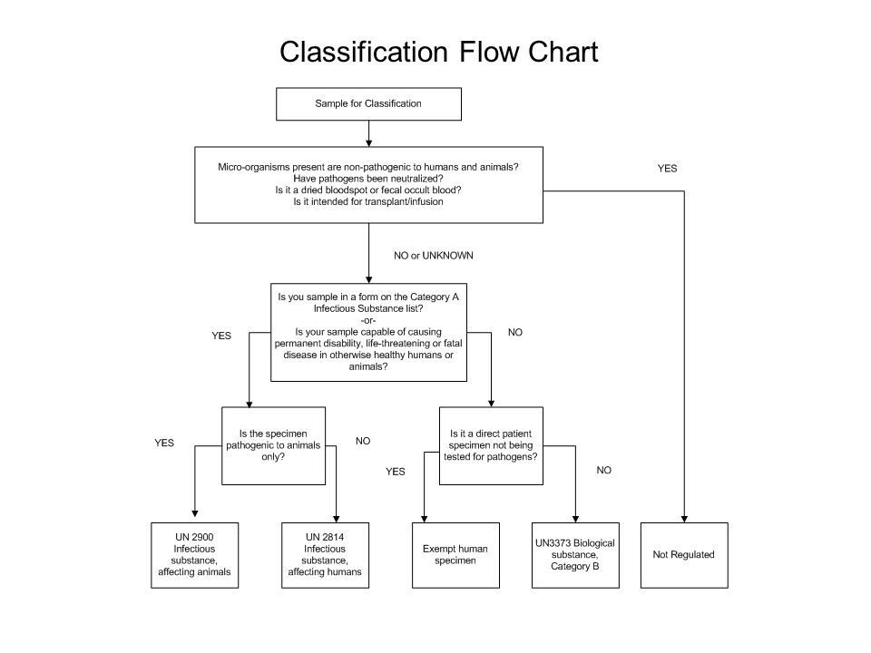 Classification Flow Chart