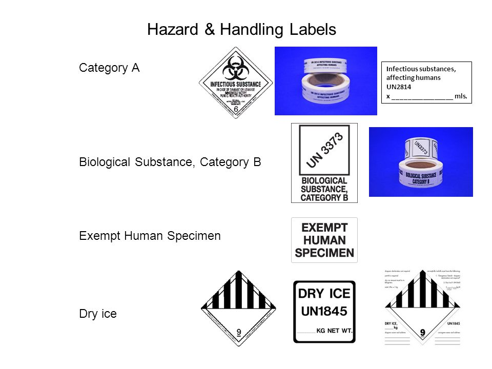 Hazard & Handling Labels