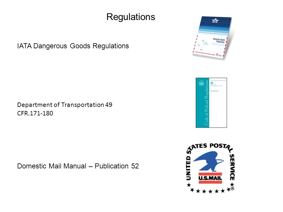 Regulations IATA Dangerous Goods Regulations