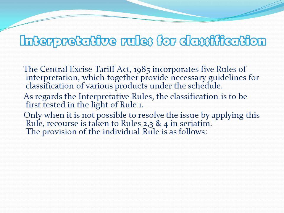Interpretative rules for classification