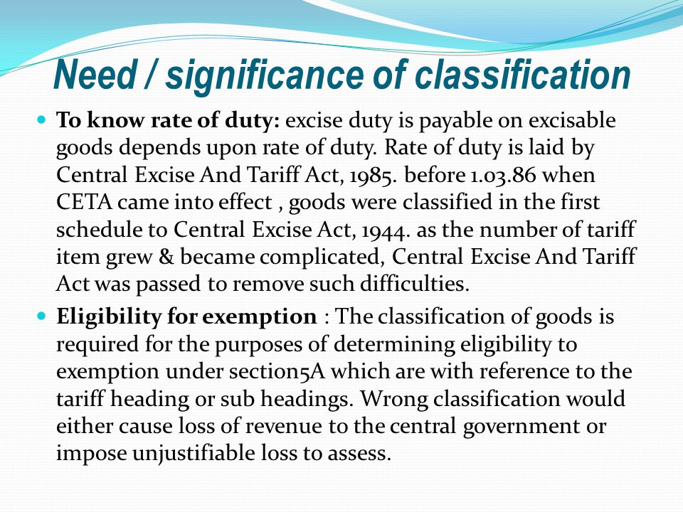Need / significance of classification