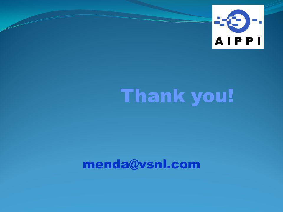 Thank you! menda@vsnl.com