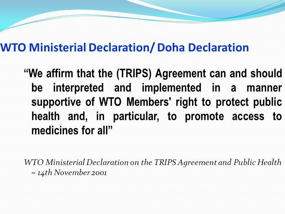 WTO Ministerial Declaration/ Doha Declaration