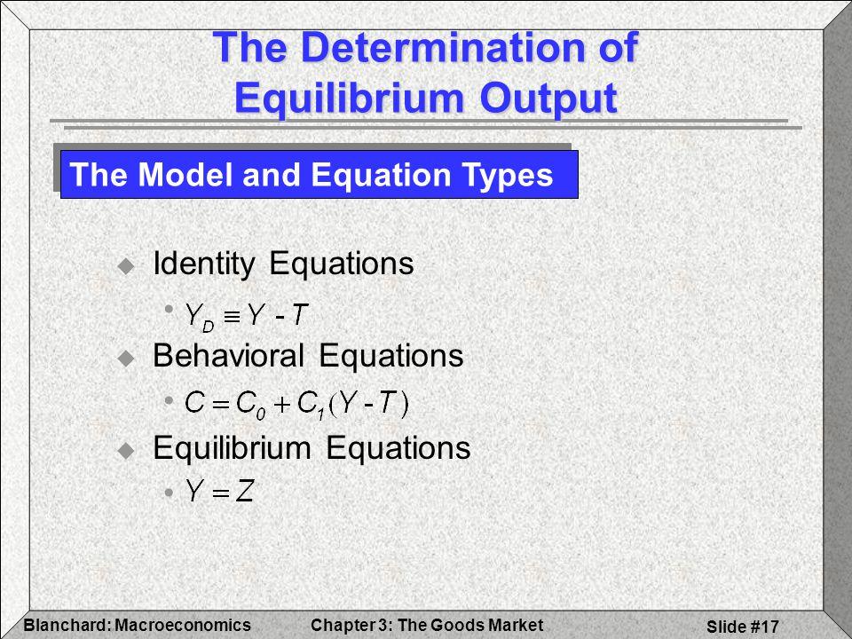 The Determination of Equilibrium Output