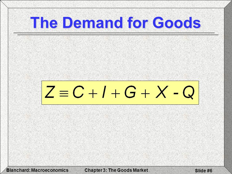 The Demand for Goods Blanchard: Macroeconomics