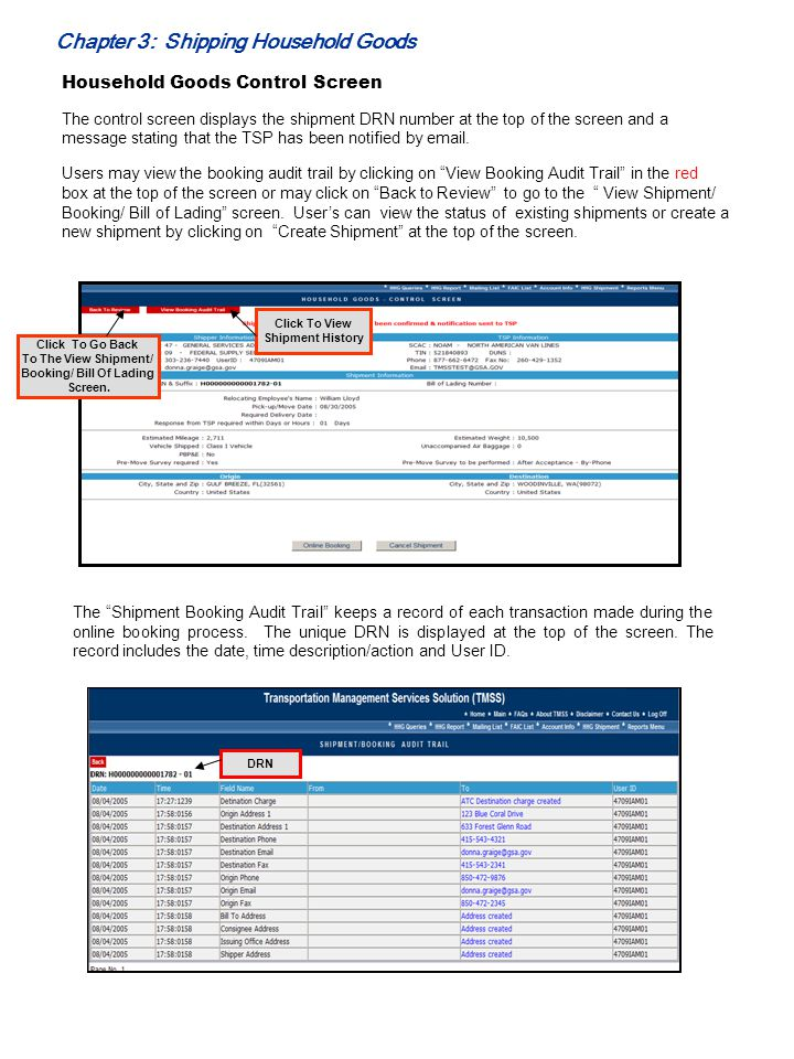 Booking/ Bill Of Lading