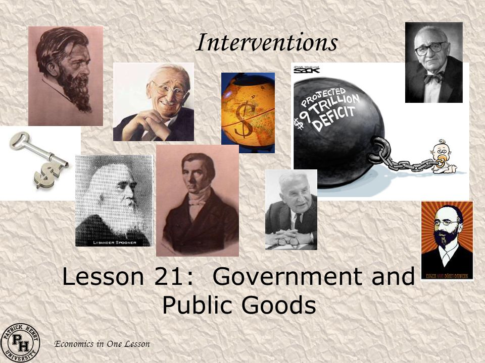 Lesson 21: Government and Public Goods