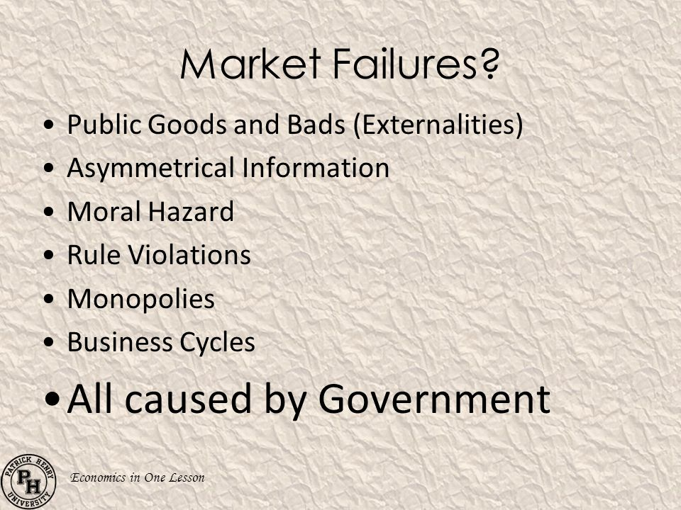 All caused by Government