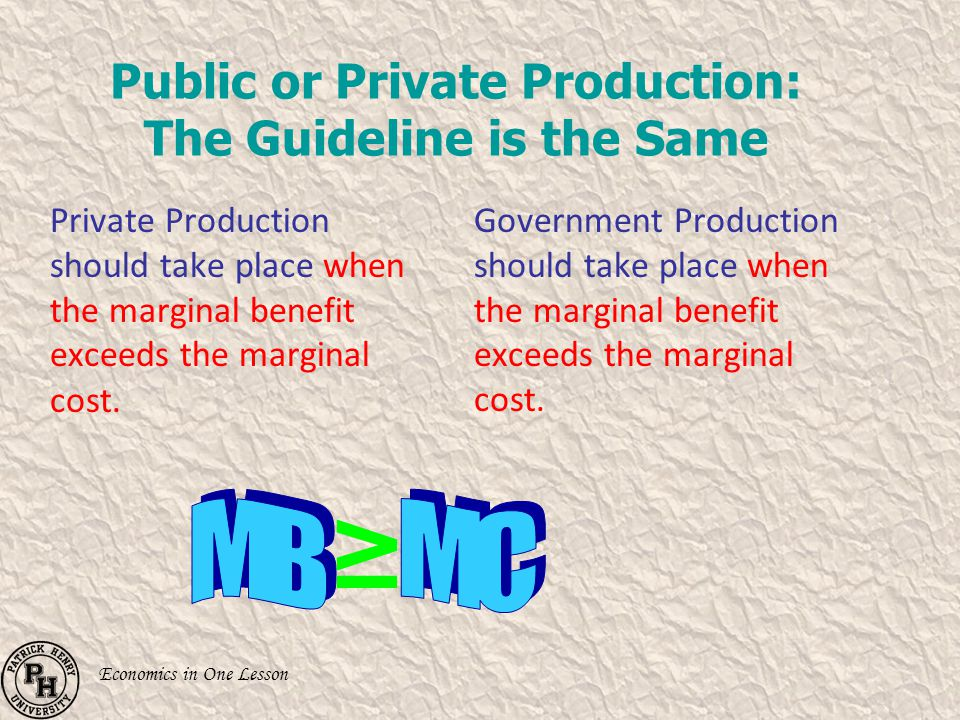 Public or Private Production: The Guideline is the Same