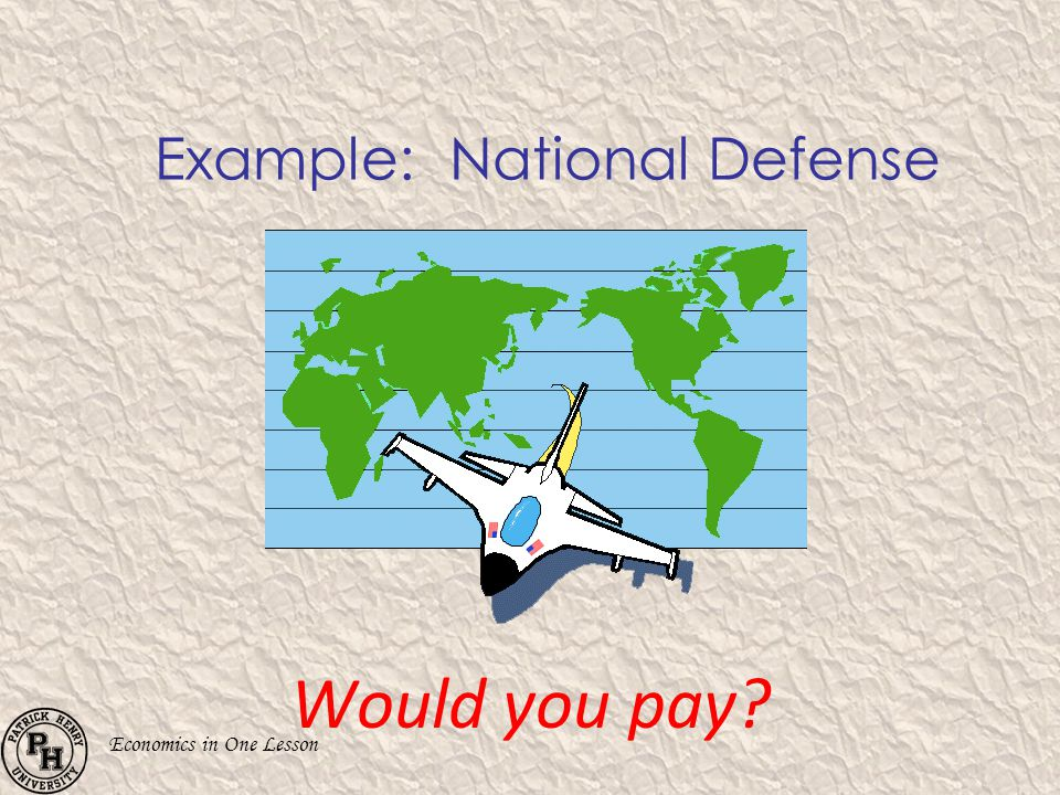 Example: National Defense