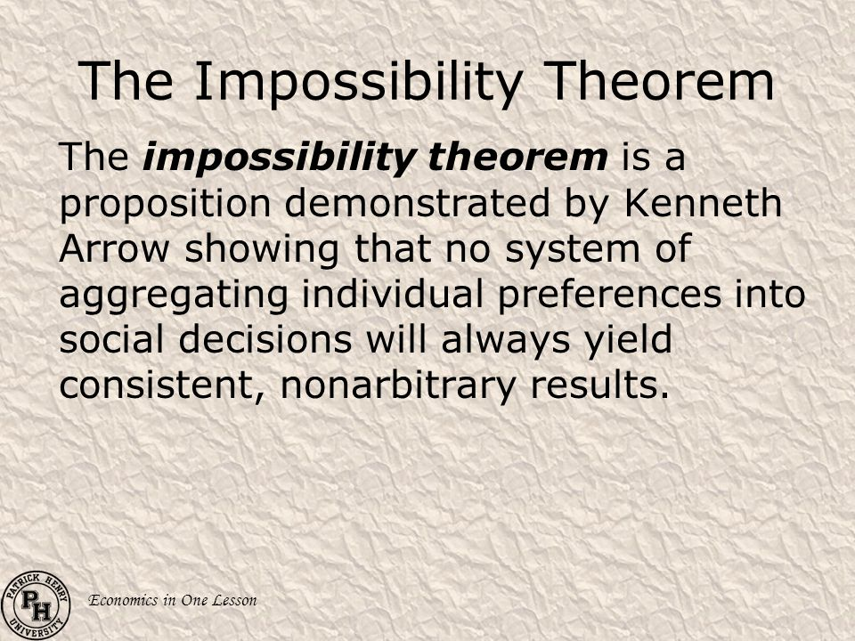 The Impossibility Theorem