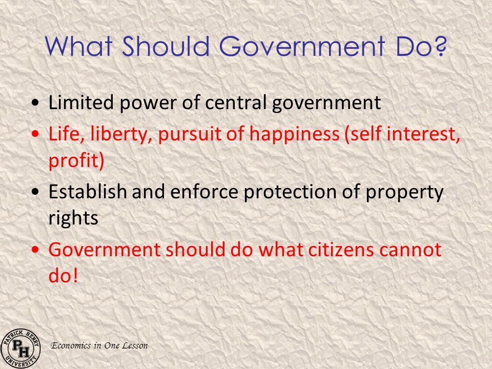 What Should Government Do