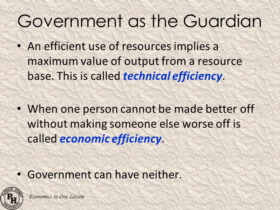 Government as the Guardian