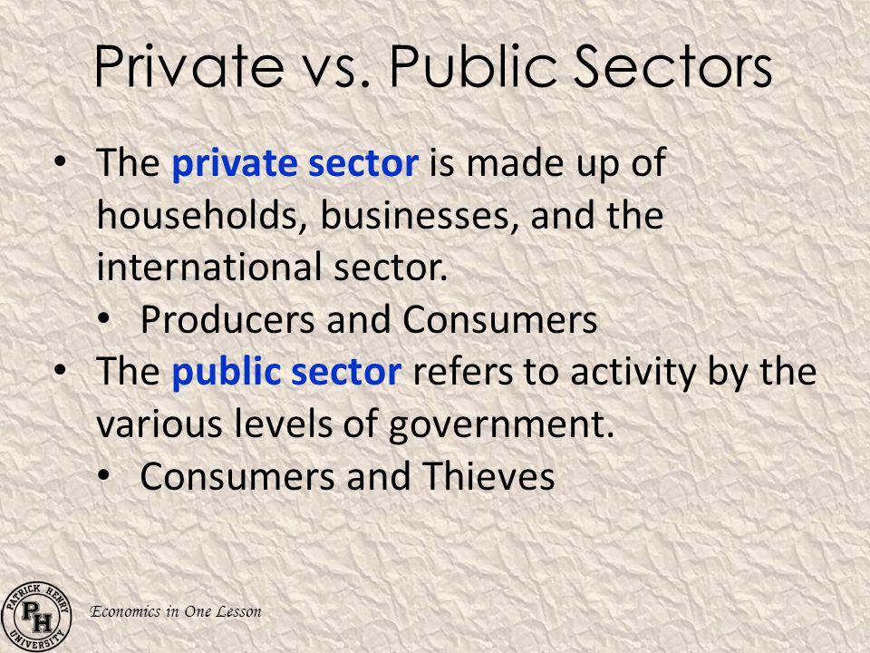 Private vs. Public Sectors