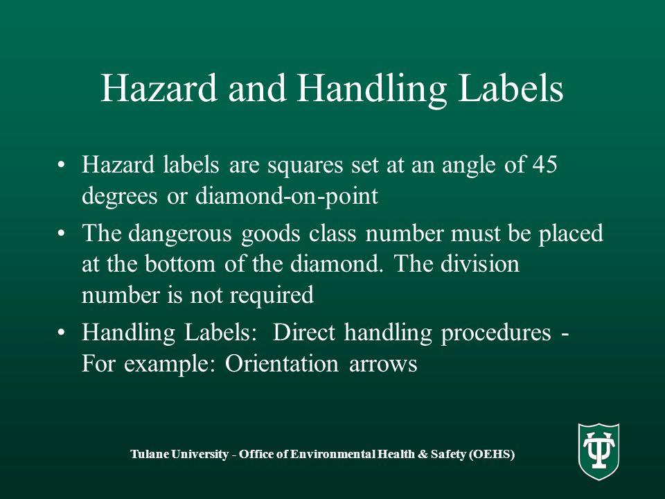 Hazard and Handling Labels
