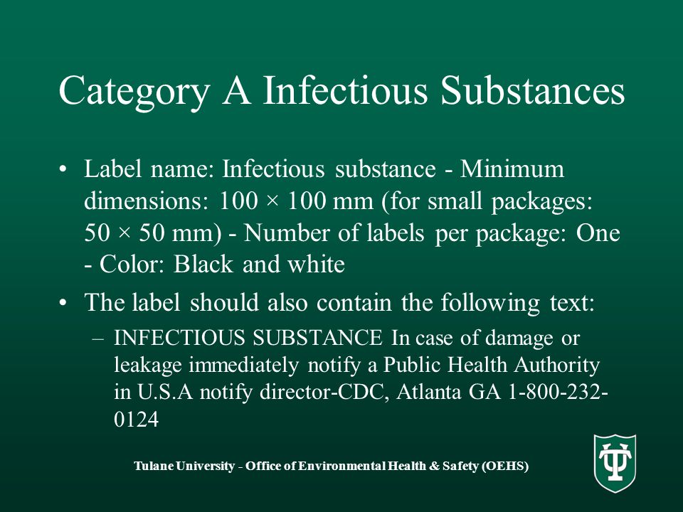 Category A Infectious Substances