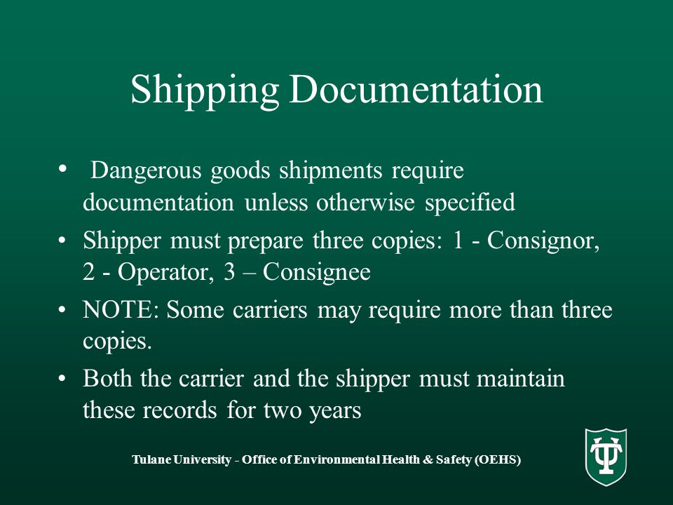 Shipping Documentation