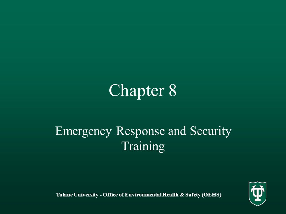 Emergency Response and Security Training