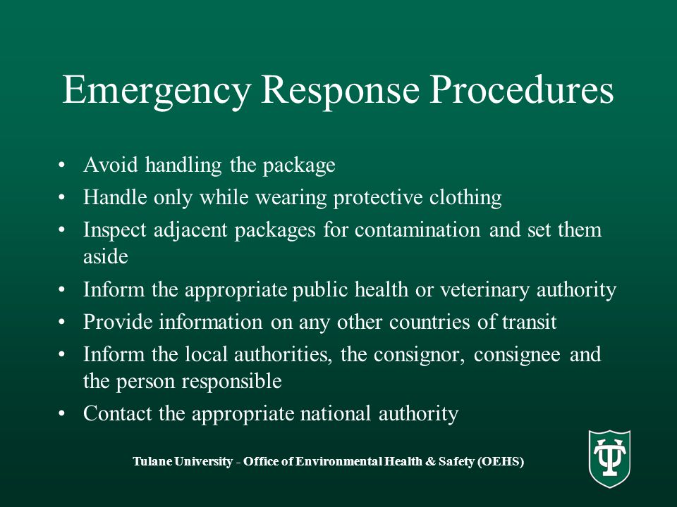 Emergency Response Procedures