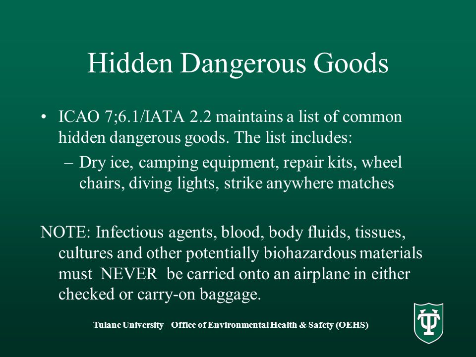 Hidden Dangerous Goods