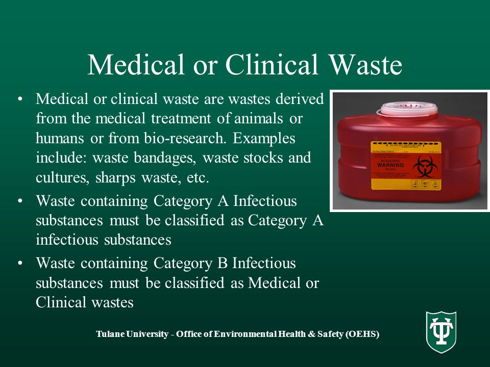 Medical or Clinical Waste