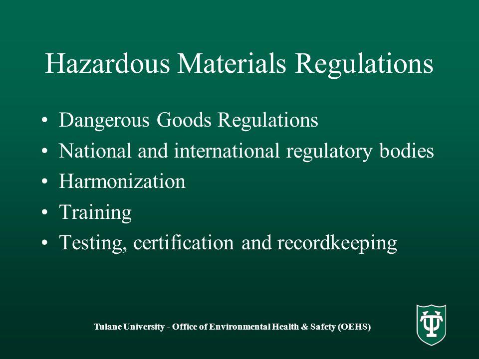 Hazardous Materials Regulations