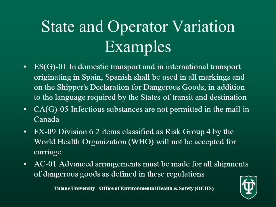 State and Operator Variation Examples