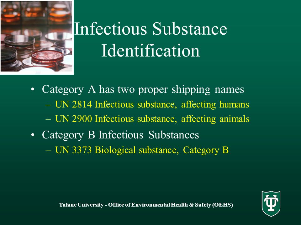 Infectious Substance Identification