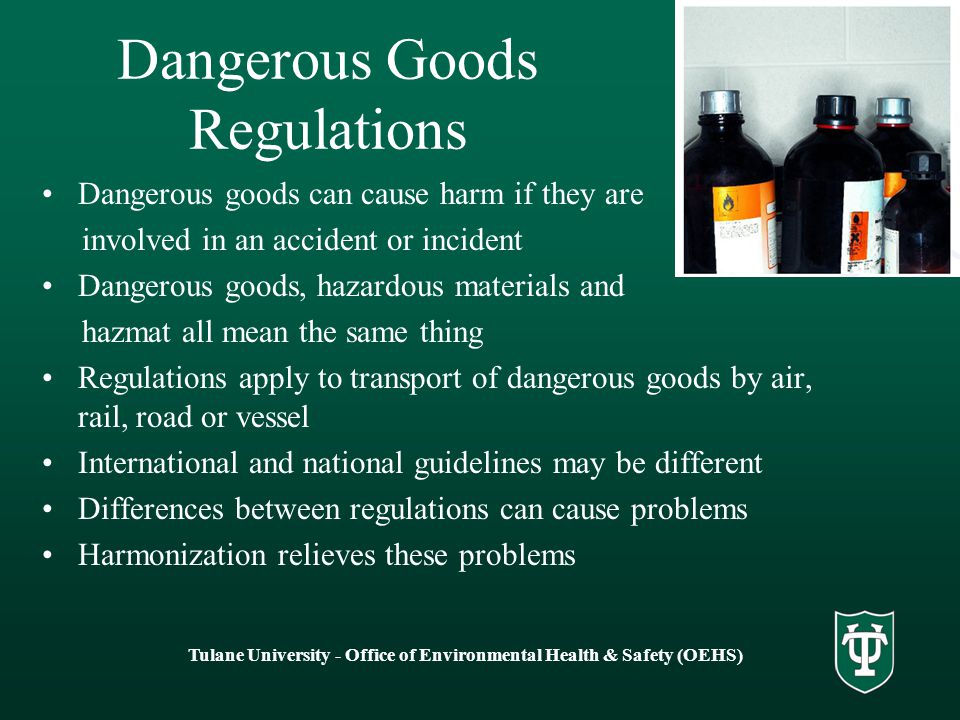 Dangerous Goods Regulations