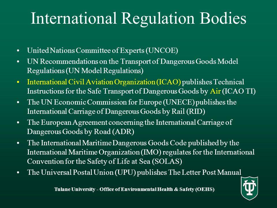 International Regulation Bodies
