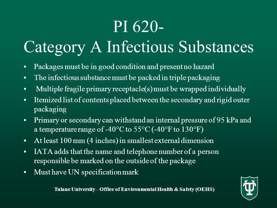 PI 620- Category A Infectious Substances