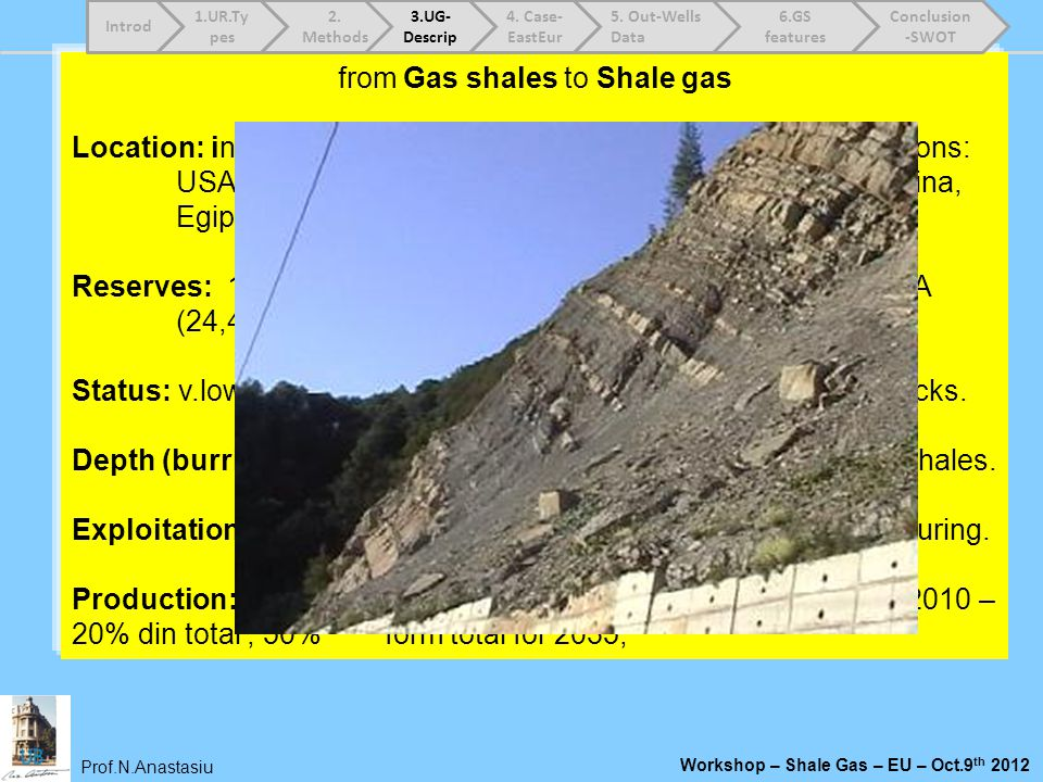 from Gas shales to Shale gas