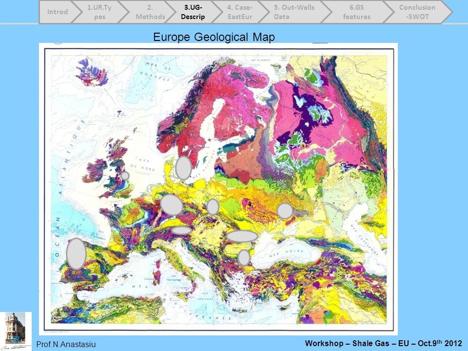 Europe Geological Map Introd 1.UR.Types 2. Methods 3.UG-Descrip
