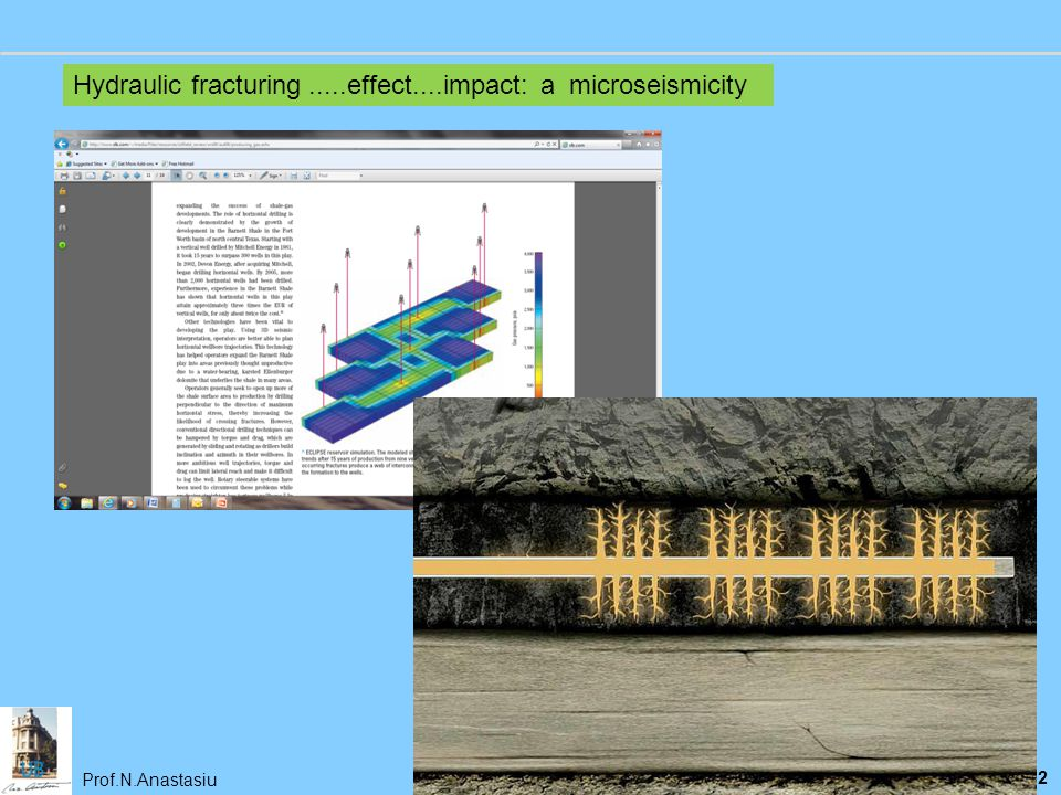 Hydraulic fracturing .....effect....impact: a microseismicity