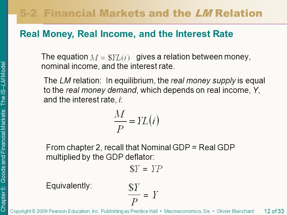 5-2 Financial Markets and the LM Relation